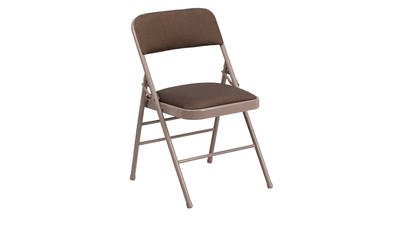 2002 Folding Chair Corporate Brown For Rent Party