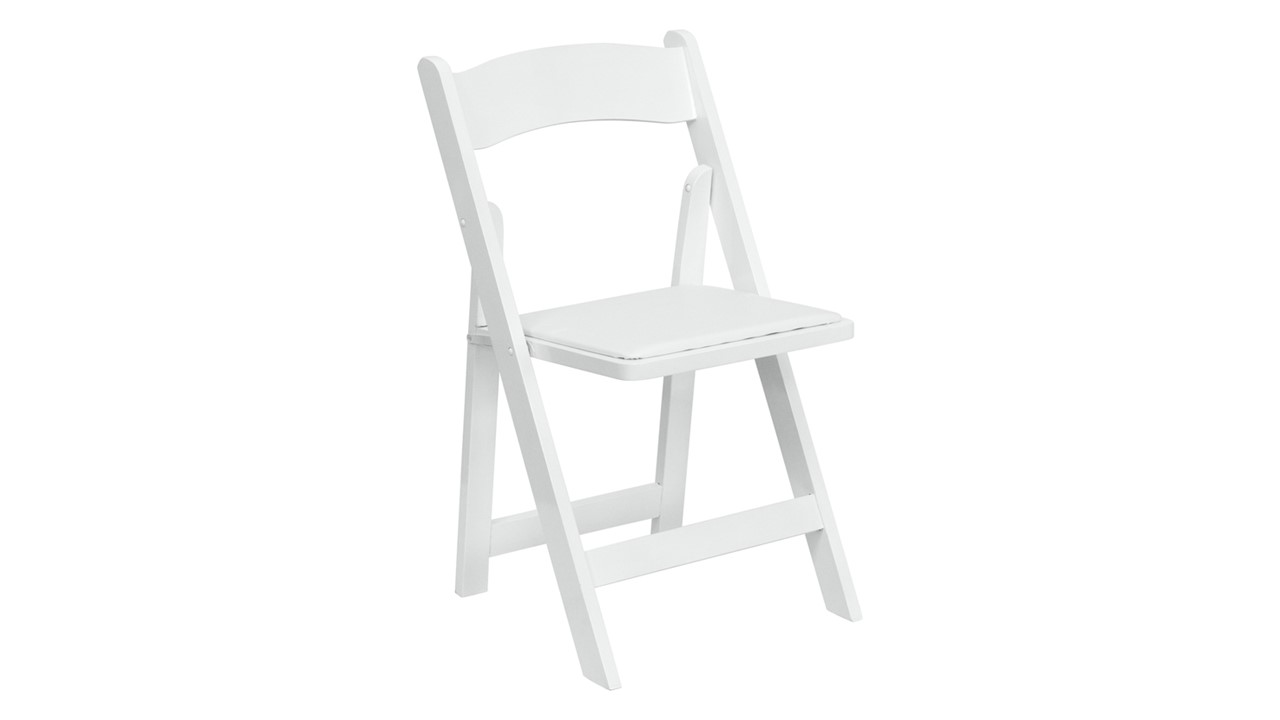 1003- Folding Chair Resin White For Rent