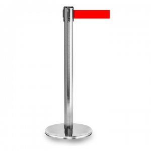Chrome Retractable Stanchions