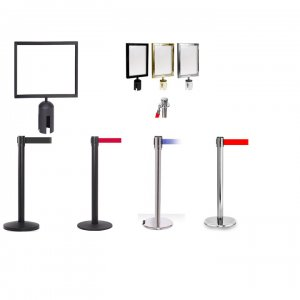 Retractable Stanchion Sign Holders